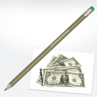 Recycled Money Pencil